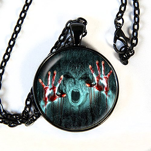 Bloody Hands scary ghost - Pendant Necklace -