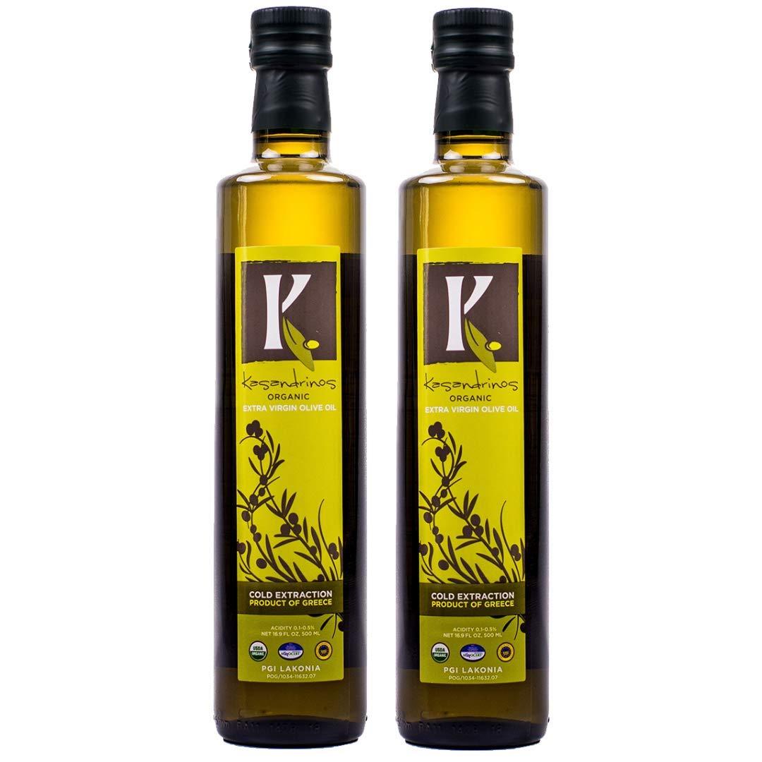 Kasandrinos Organic 2 Pack olive oil 500 ml Bottles by K. KASANDRINOS (Image #1)