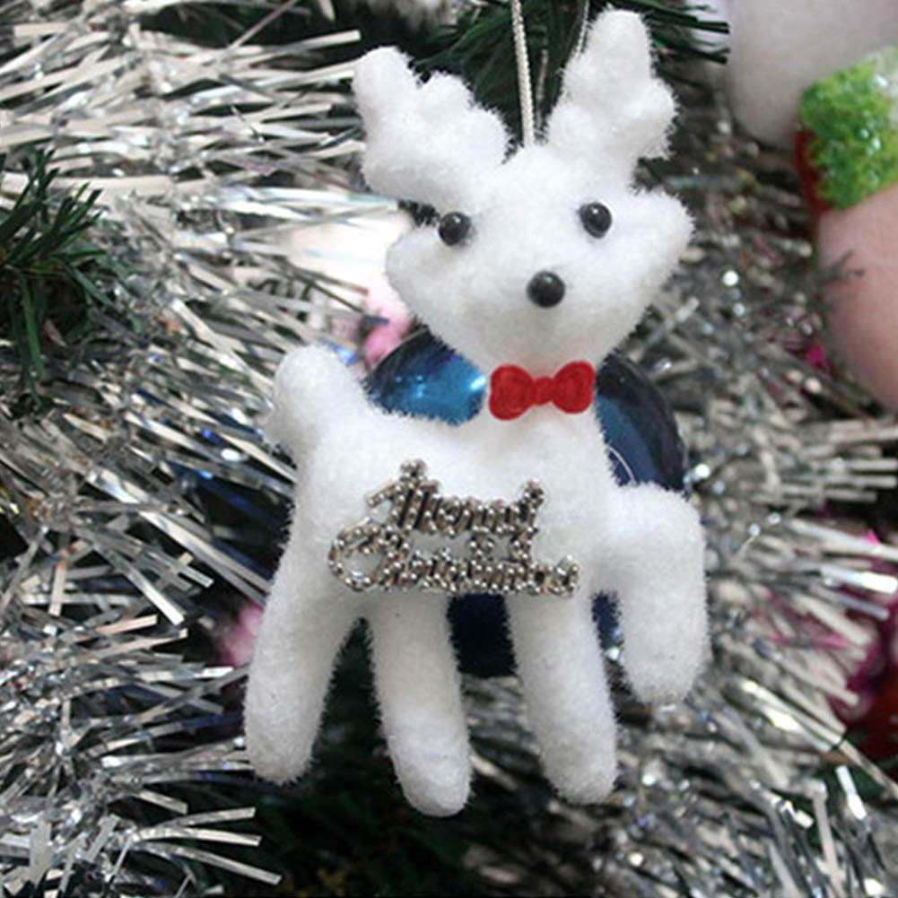 fast-shop Emories 2 Pcs Christmas Hanging Cute Elk Party Decorations for Christmas Trees Door Hanging Ornaments High Quality
