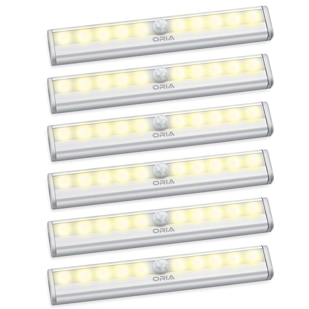 【一部予約販売】 オーリアモーションセンサーライト、10 LEDワイヤレスナイトライト UF14Y_6PCS-O52118-OUS、stick-on壁ライト磁気ストリップ付きホーム White、寝室、階段 Set、セットの3 UF14Y_6PCS-O52118-OUS Set of 6 Warm White B075CYW3WY, TOKO:8aac7df8 --- trainersnit-com.access.secure-ssl-servers.info