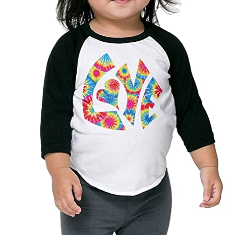 728105bed Amazon.com : SH-rong Love Tie Dye Toddler Custom T-shirt : Sports ...