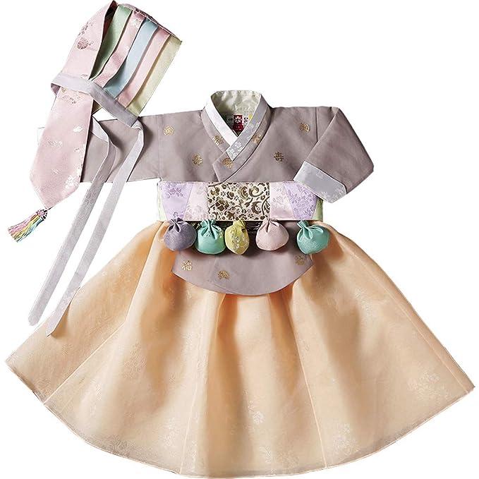 Hanbok Vestido Tradicional de niña Corea Ropa de niña para 1 ...