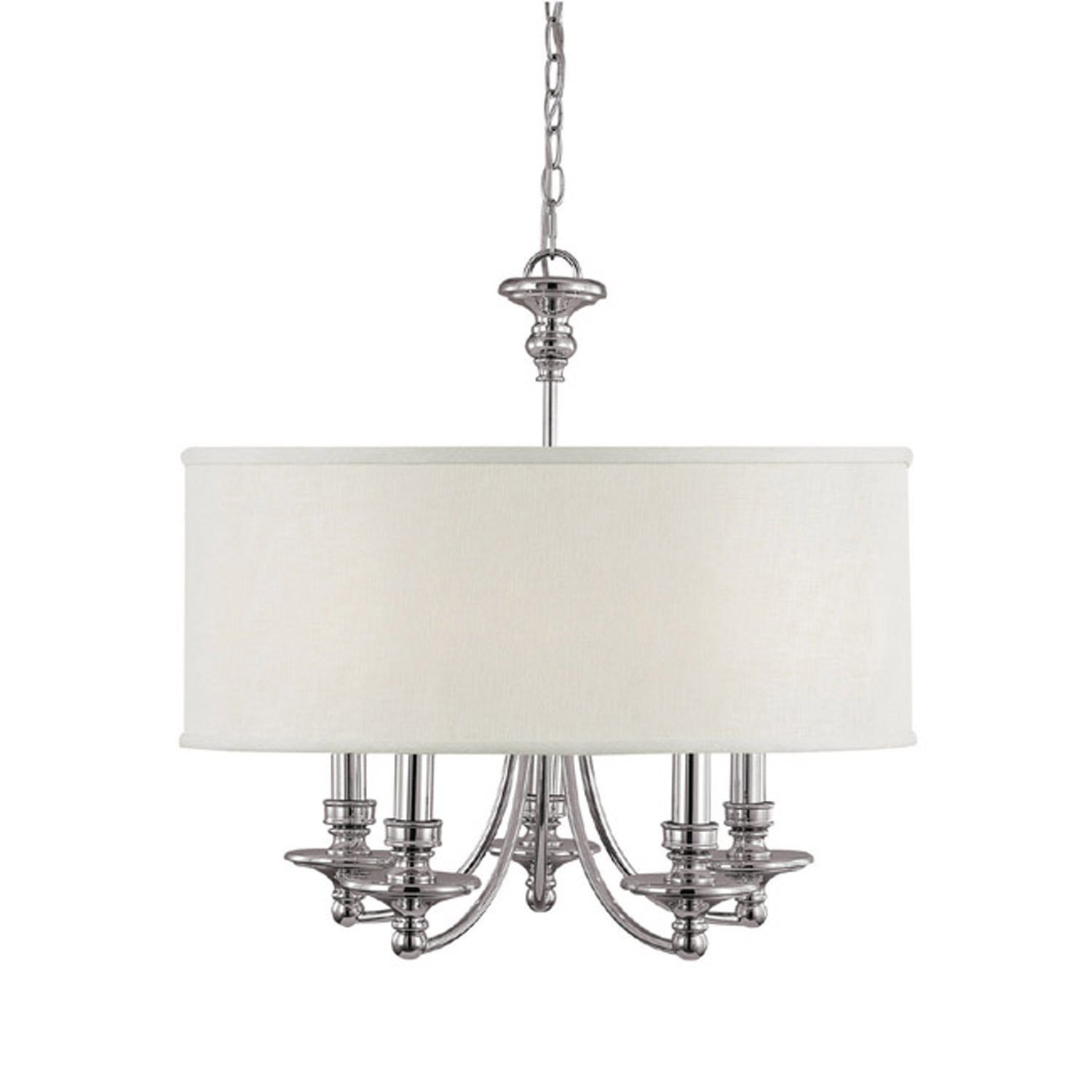 loading light zoom polished nickel satin chandelier fs pn