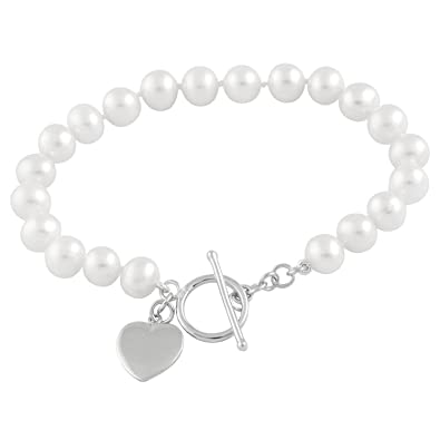Bella Pearls Sterling Silver White, Pink and Grey Freshwater Pearl Twisted Bracelet
