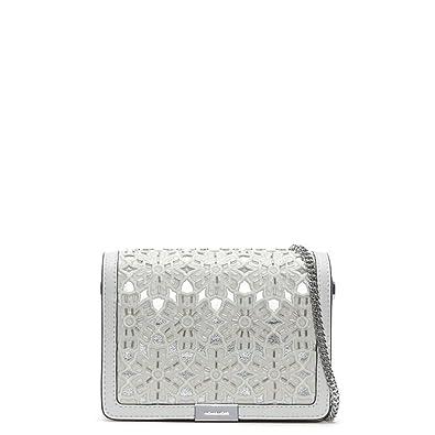4839448b41c1 ... australia michael kors jade optic white leather floral clutch bag white  leather 96c95 a1e7a