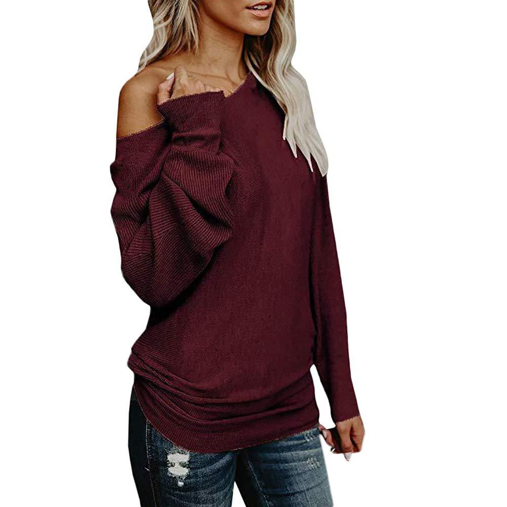 Bcfuda Donna✿Camicie Donna Eleganti Camicie delle Donne lavorate a Maglia Camicie Autunno Pullover Manica Lunga Pullover Manica Lunga