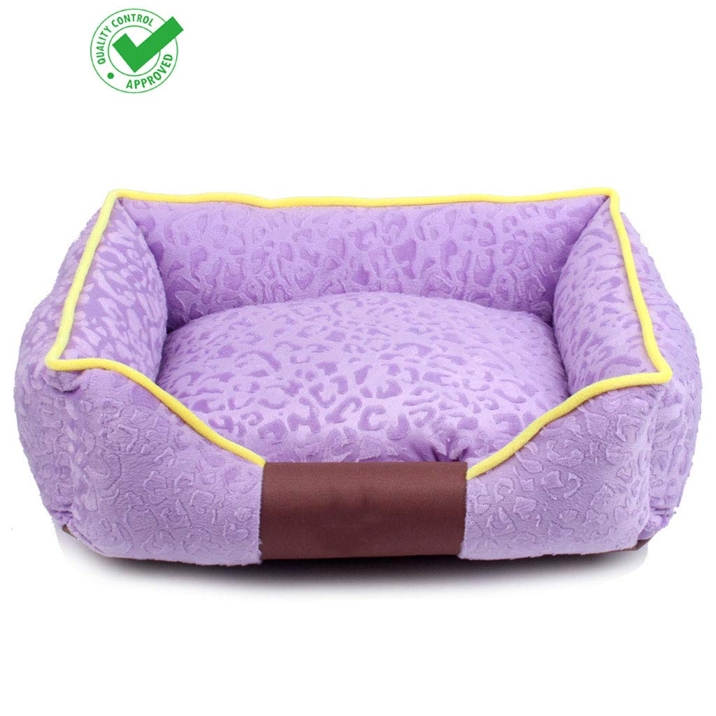 Medium dog 8065 cm Yee Dog Bed Pet Bed Pet Mat Removable And Washable Warm Breathable Non-slip Four Seasons Universal Cat Basket Purple (Size   Medium dog 80  65 cm)