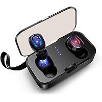 Auriculares Bluetooth, SYOSIN TWS Auriculares Inalambricos Bluetooth 5.0 Impermeables IPX6 HiFi Cascos Deportivos In-Ear Estéreo Inalámbricos con Mic para iPhone y Android