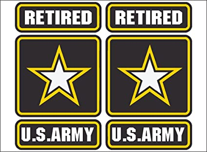 Amazon.com: US Army Retired (PAIR) vehicle or home decor decal ...