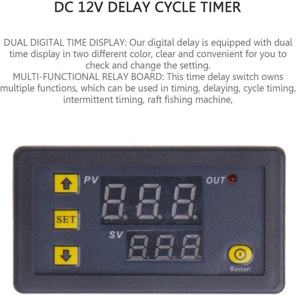 Rouku 12V 110-220V Timing Delay Relay Modul Zyklus Timer Digital LED Dual Display 0-999 Minuten Timing Relay Time Delay Schalter