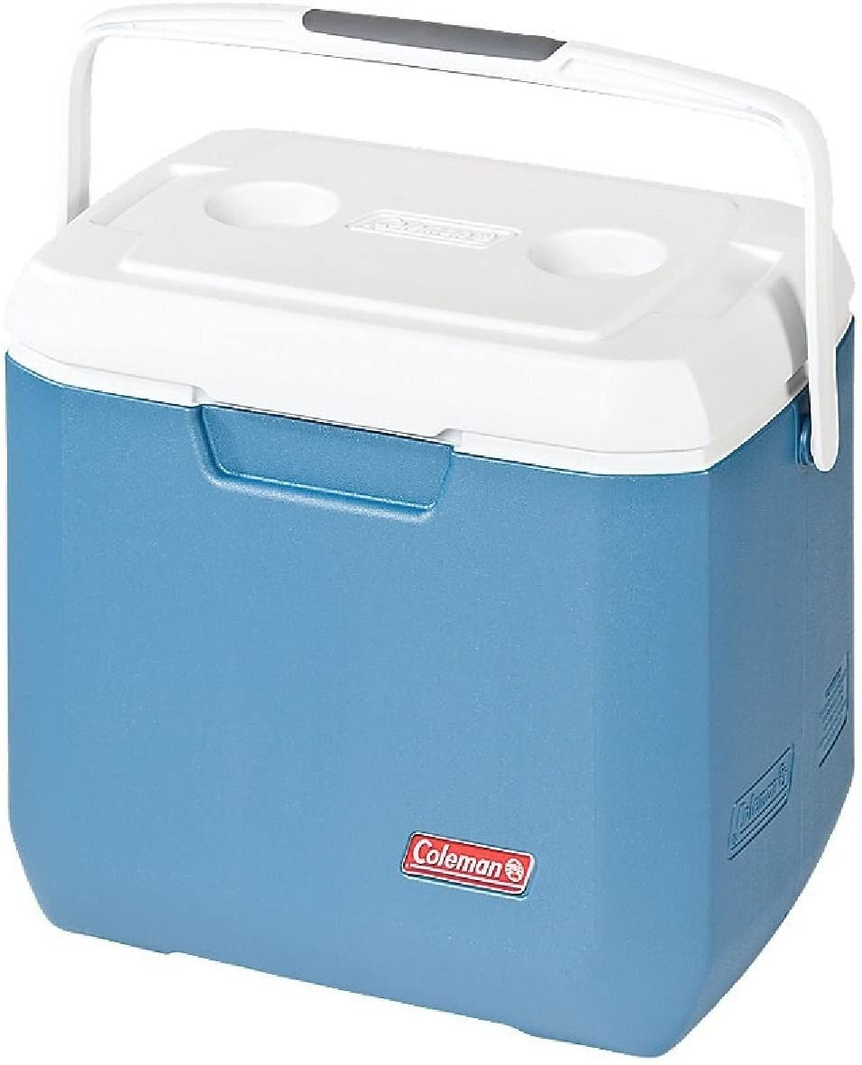 Coleman 3000005350 Cooler, 28 quart, Blue/White