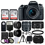 Canon EOS 77D Digital SLR Camera + Canon EF-S 18-55mm f/4-5.6 IS STM Lens + Canon EF 50mm f/1.8 STM Lens + Wide Angle & Telephoto Lens + Photo4Less DC59 Gadget Bag + Wireless Remote + Accessory Bundle Review