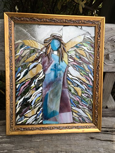 Angel Stained Glass Window Art Sun Catcher Christain Art by Mountain Mosaics