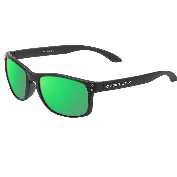 Gafas Sol Sunglasses UNISEX Northweek SERIE BOLD MATTE BLACK polarizadas - lente VERDE