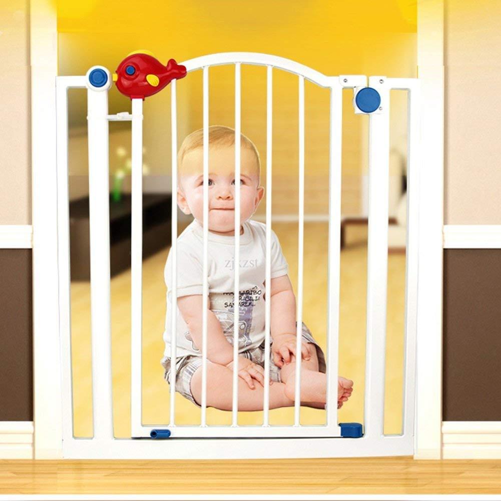 ペットのドアが付いている屋内安全門の特別に広い赤ん坊のゲートは手すりへの階段の出入り口の手すりの壁の保護装置78-147CMの広いWhtieの金属を付けます(サイズ:106-112cm) 78-84cm  B07V95YY66
