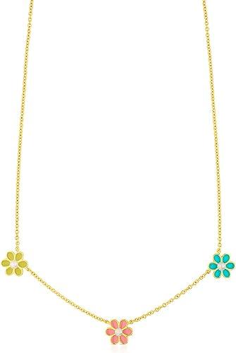TOUS Collar Happy Moments, cadena Mujer vermeil con tres flores