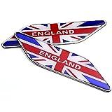 【ノーブランド品】3D イギリス エンブレム 国旗 ステッカー 車 シール プレート 2枚 セット