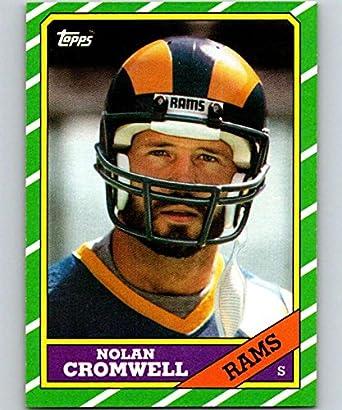 Amazon.com  1986 Topps  92 Nolan Cromwell LA Rams NFL Football ... 91143384f