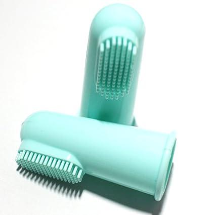 Cepillo de dientes baño cepillo de dientes dedo de silicona aptos para bebés, mujeres embarazadas