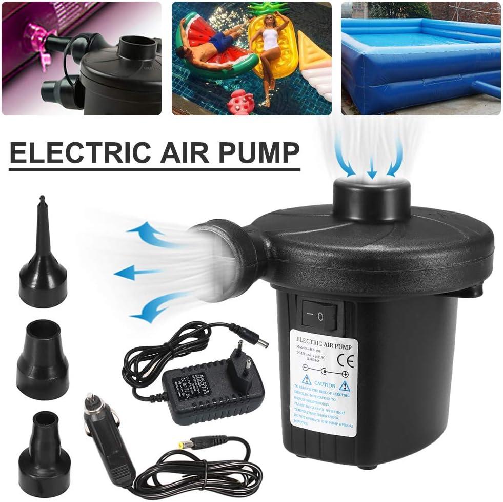 Lit Flottant Irfora Pompe Electrique Bateaux gonflables Pompe /à Air /Électrique Rapide avec 3 Buses Coussin pour Matelas Gonflable Camping Gonfleur//Degonfleur Electrique Portable
