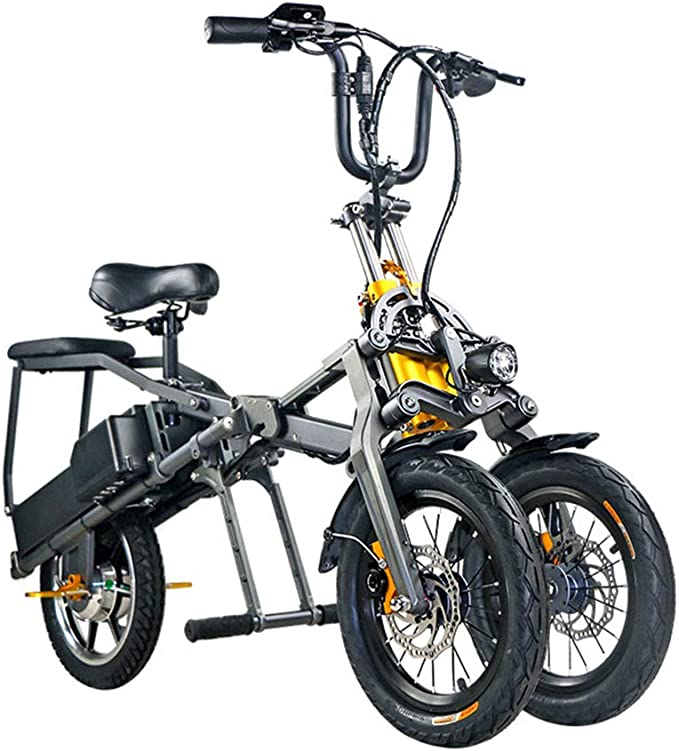 ABYYLH Bicicletas eléctricas Plegables para Mujer, monopatín ...