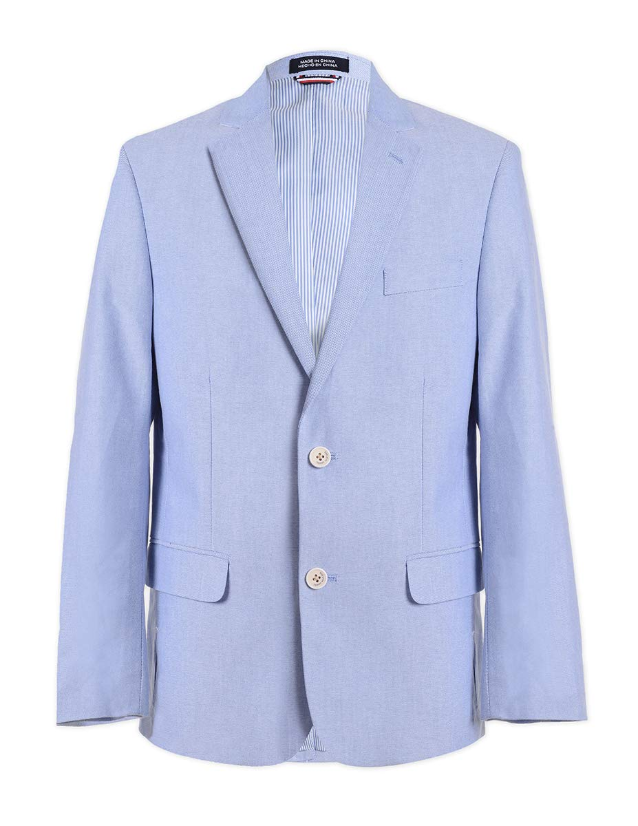 Tommy Hilfiger Boys Oxford Blazer Jacket, Medium Blue 8
