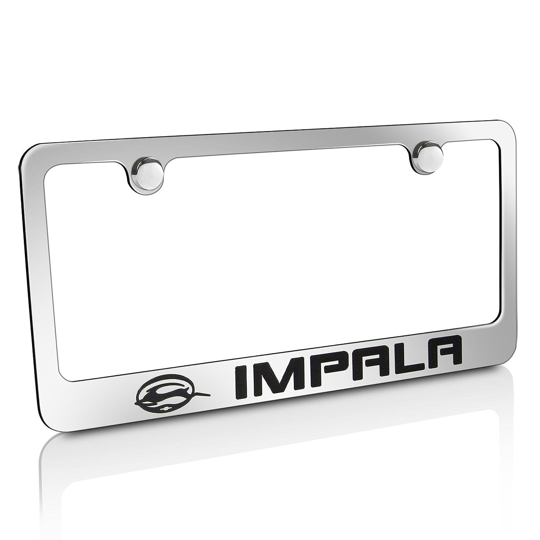 Amazon.com: Chevy Impala Chrome Brass License Plate Frame: Automotive