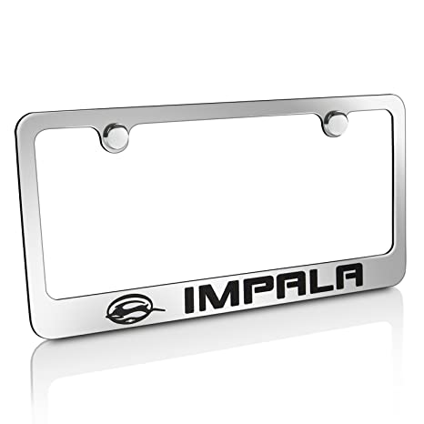 Amazon.com: Chevy Impala Chrome Brass License Plate Frame: Automotive