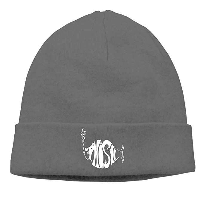 04c08fb969fc8 Amazon.com  Women s Men s Knitted Hat Phish Logo Cap Female Headscarf Hat  Black  Clothing