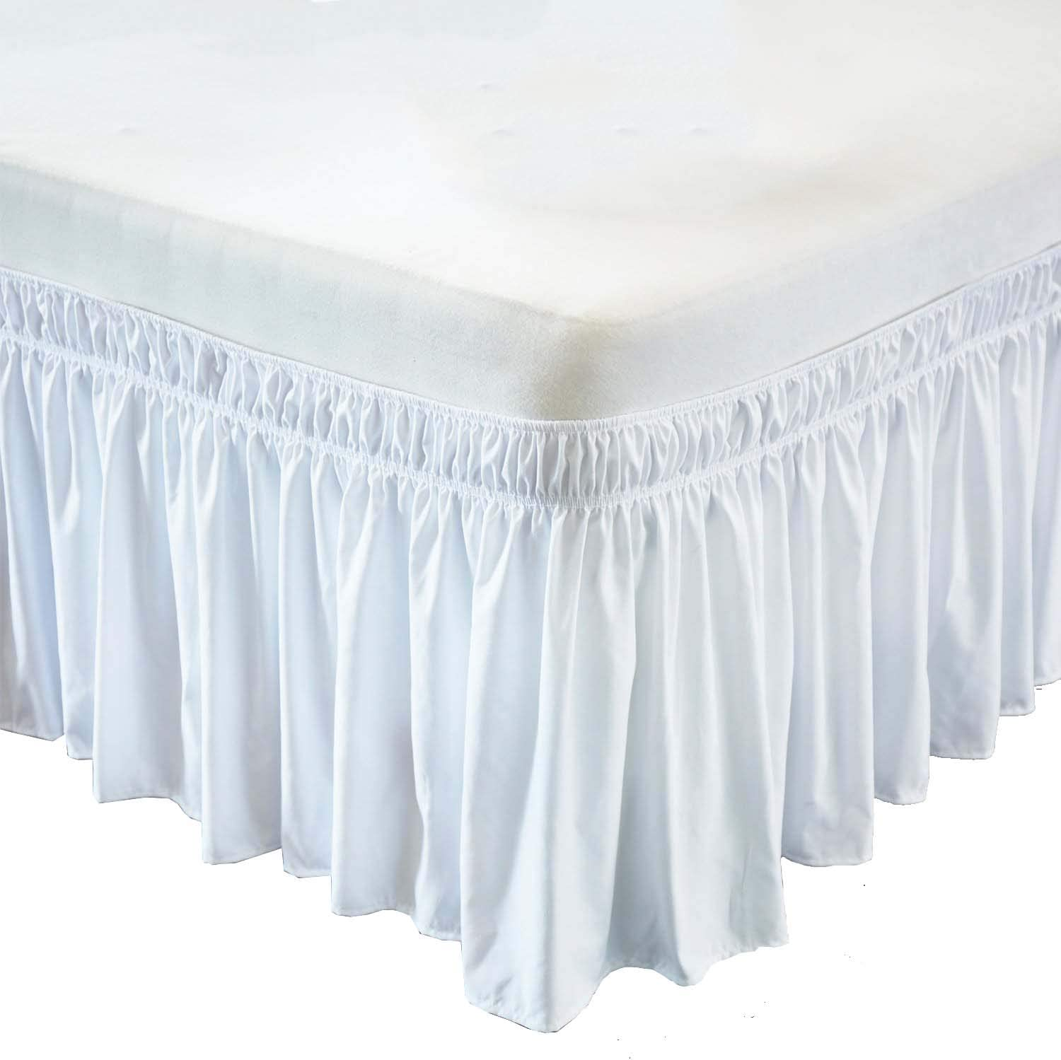 Threshold Performan Wrap Around Bed Skirt Easy Fit Elastic Extra Color-Size-Drop