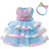CMMCHAAH 6M-7T Flower Baby Girl Wedding Pageant Layered Dresses Toddler Formal Party Dress