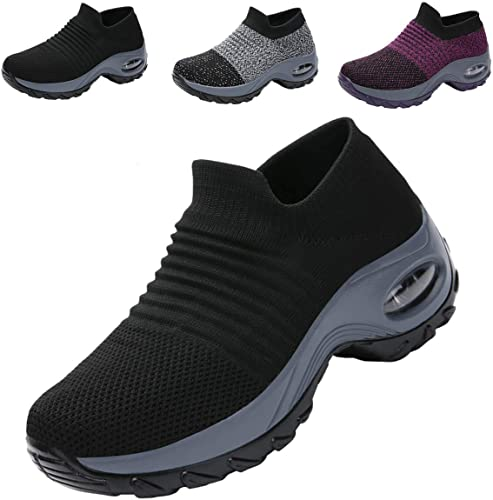 Zapatos Deporte Mujer Zapatillas Deportivas Correr Gimnasio Casual Zapatos para Caminar Mesh Running Transpirable Aumentar Más Altos Sneakers 36-42: Amazon.es: Zapatos y complementos