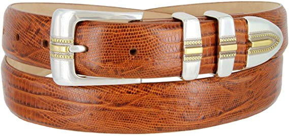 "Italian Calfskin Leather Designer Dress Belts for Men 1-1//8/"" Adam Silver"