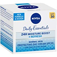 NIVEA Daily Essentials 24 Hour Moisture Boost, Refreshing & Protecting Day Cream SPF 30 with Vitamin E & Anti-Oxidants…