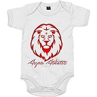 Body bebé ilustración silueta del león del Athletic - Blanco, Talla única 12 meses