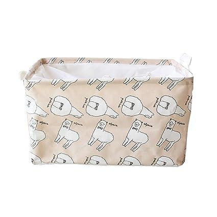 inwagui Cesto – Cesta con mango Armario Organizador Caja para ropa 45 x 25 x 30
