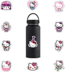 ARPA 50Pcs Hello Kitty Stickers for Laptops Books Cars Motorcycles Skateboards Bicycles Suitcases Skis Luggage Cup etc DWJ
