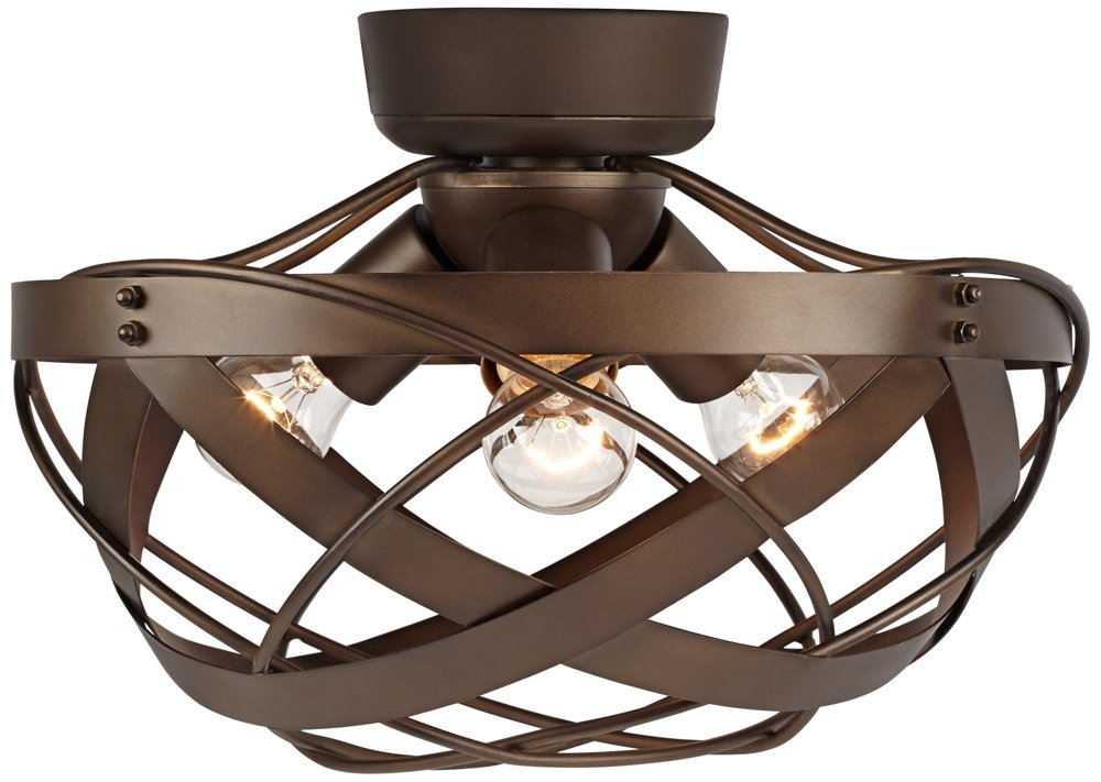 orbital weave oil rubbed bronze fan light kit by universal lighting and decor - Universal Lighting And Decor