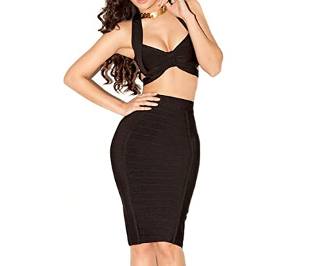 9d422f122a Amazon.com: Whoinshop Women Sexy Cut Out 2 Piece Cocktail Party ...
