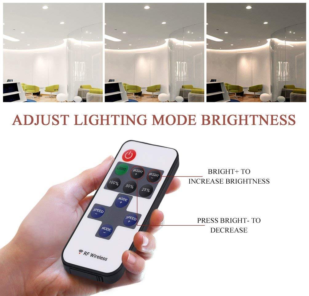 TAOHOU Dimmer del regolatore dellinterruttore a Distanza Senza Fili di 12V RF per Mini Striscia Luminosa Principale