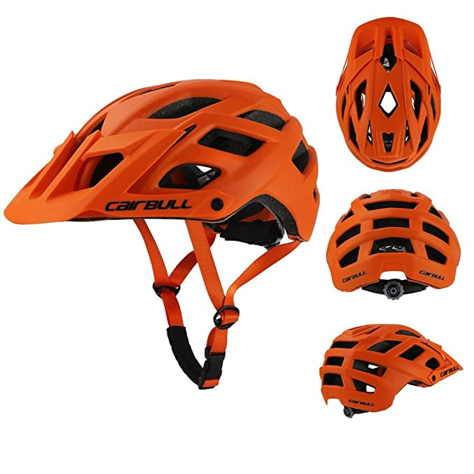 Amazon.com : Cairbull Cycling Helmet Trail Xc Bicycle In-Mold Mtb Bike Casco Ciclismo Road Mountain Helmets Safety Cap orange : Sports & Outdoors