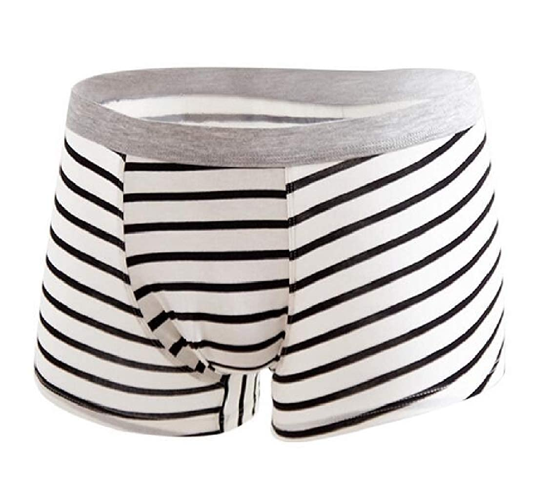 Nanquan Men Contrast Stripe Cotton Comfort Big /& Tall Boxer Brief