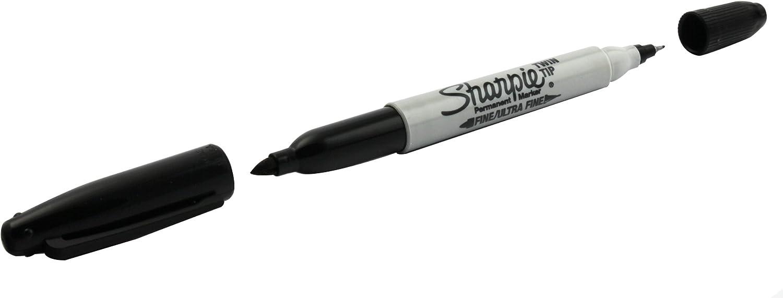 Sharpie Permanent Marker Twin Tip Black 3ct Sealed Singles