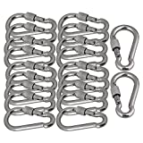 Mxfans 20Pieces Durable Quick Link Chain Rigging Connector Stainless Steel M6 Thread