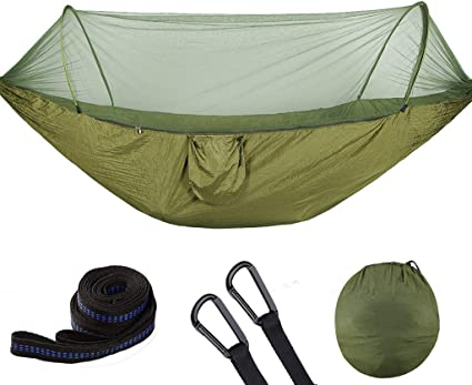 Double Person Travel Outdoor Camping Tent Hanging Hammock Bed With Mosquito Net