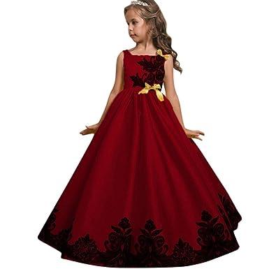Mädchen Stickerei Kleid Rock Prinzessin Kleid Kid Party Hochzeit ...