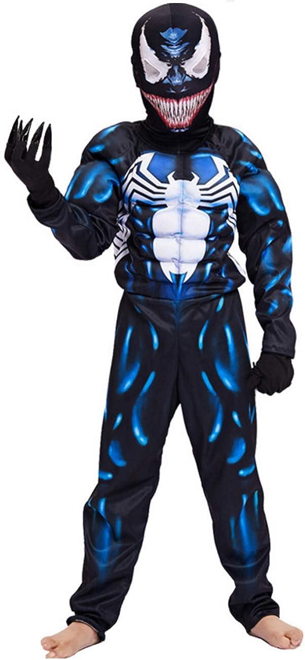 YuDanae Kids Superhero Costume Onesie 3D Spandex Unisex Jumpsuit Bodysuit for Kids Aged 4-9