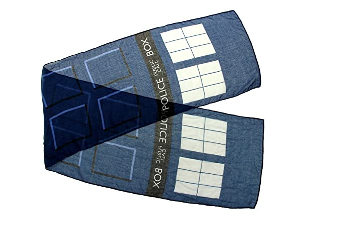 Amazon Elope Doctor Who Tardis Lightweight Scarf Clothing