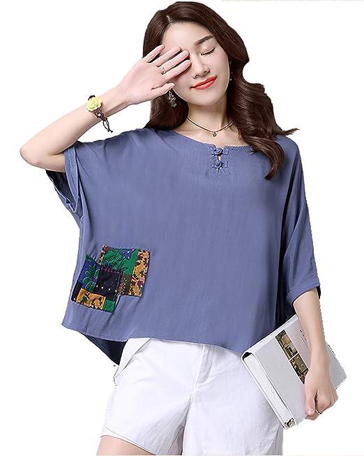 Vogue of Eden - Camisas - corte imperio - para mujer Azul azul Talla única
