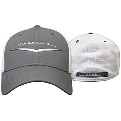 Chevrolet Fitted Hat (Grey) One Size: Clothing